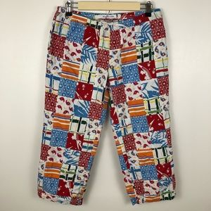 Abercrombie & Fitch Patchwork Cropped Summer Pants